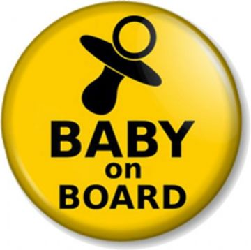 Spoof /'Food Baby On Board/' Underground Badge