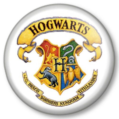 Hogwarts School Of Witchcraft And Wizardry Pinback Button Badge Harry  Potter Crest Logo J K Rowling
