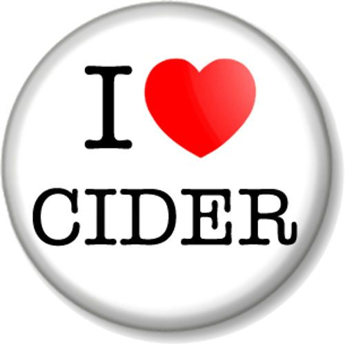 I Love / Heart CIDER Pin Button Badge favourite drink booze alcohol beer