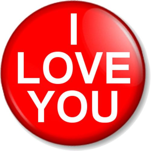 I LOVE YOU Pin Button Badge Cute Valentine Novelty Romantic Fun Gift Red