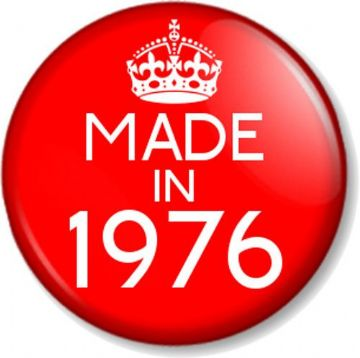 Made in 1937 Red Keep Calm Birthday Year of Birth 25mm Button Pin Badge