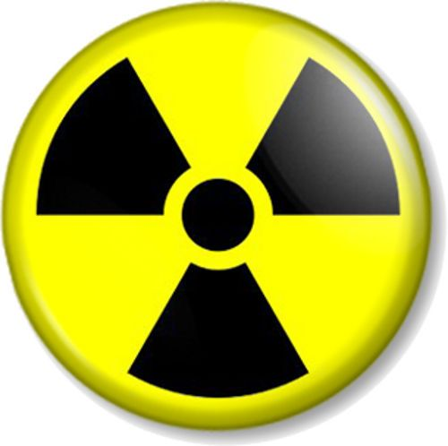 Nuclear Warning Sign Pinback Button Badge Zombie Symbol Geek Nuke