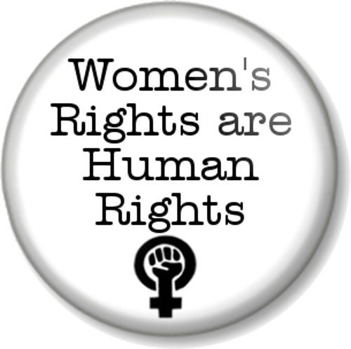 Women S Rights Are Human Rights 1 Pin Button Badge Feminist Symbol