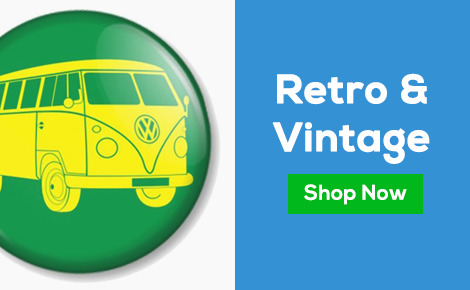 Retro & Vintage Badges